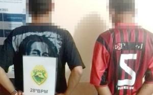 Dois menores roubam cem reais de vítima no centro de Porrto Amazonas e são apreendidos pela PM