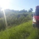 Veícula sai da pista na PR 151 próximo ao Rio Caniú_1