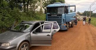 Caminhão que teria sido roubado em Palmeira é recuperado pela polícia_1_foto Polícia Civil