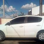 Veículo Palio branco usado nos furtos_foto Rinaldo Agotani_Rádio Ipiranga