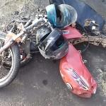 Acidente Moto x Caminhão na BR 277 km 182 em Palmeira_foto PRF_1