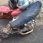Acidente Moto x Caminhão na BR 277 km 182 em Palmeira_foto PRF_2