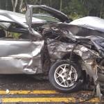 Acidente entre dois carros na PR 151 em Faxinal do Quartins mata jovem de Palmeira_3_ foto rede social WhatsApp