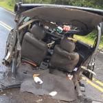 Acidente entre dois carros na PR 151 em Faxinal do Quartins mata jovem de Palmeira_4_ foto rede social WhatsApp