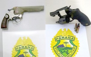 Armas aprendidas pela PM na Operação Tiradentes em Palmeira