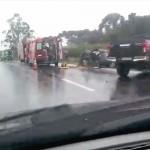 Acidente com 4 veículos na BR-277 em Palmeira deixa um morto e dois feridos graves_fotos reprodução_2_rede social WhatsApp