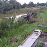 Acidente entre dois caminhões na PR 151 no Rio Caniú_2
