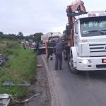 Acidente entre dois caminhões na PR 151 no Rio Caniú_3