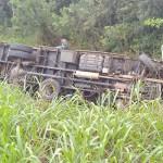 Acidente entre dois caminhões na PR 151 no Rio Caniú_5