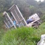 Acidente entre dois caminhões na PR 151 no Rio Caniú_6