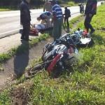 Acidente com moto na PR 151 entre Palmeira e Ponta Grossa-1-Foto-A RedeCop (1)