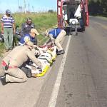 Acidente com moto na PR 151 entre Palmeira e Ponta Grossa-1-Foto-A RedeCop (3)