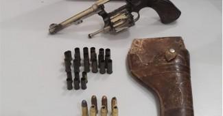 Arma é apreendida pela Polícia Militar no interior de Palmeira