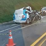 Grave acidente entre carro e caminhão na BR 277 em Palmeira deixa uma pessoa morta-Jorge Zen-3