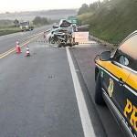 Grave acidente entre carro e caminhão na BR 277 em Palmeira deixa uma pessoa morta-PRF-2