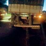Grave acidente entre carro e caminhão na BR 277 em Palmeira deixa uma pessoa morta-Rede Social-4