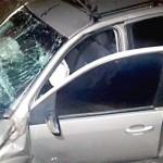 Acidente entre Sandero e Fiesta na BR-277 na Vaca Morta deixa dois motoristas gravemente feridos_1_foto PRF
