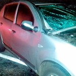 Acidente entre Sandero e Fiesta na BR-277 na Vaca Morta deixa dois motoristas gravemente feridos_2_foto PRF