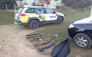 Seis armas de fogo são apreendidas em Vila Palmira em São João do Triunfo