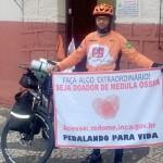 Soldado da Polícia Militar e ciclista realiza pedalada de Foz a Paranaguá em prol da doação de medula óssea_1_foto divulgação