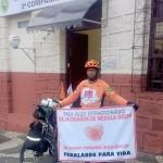 Soldado da Polícia Militar e ciclista realiza pedalada de Foz a Paranaguá em prol da doação de medula óssea_2_foto divulgação