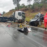 Acidente entre carro e caminhão deixa três vítimas fatais na BR 277_foto 4 Bruna Camargo_Rádio Ipiranga