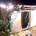 Colisão frontal entre dois veículos na BR-277 deixa cinco feridos_foto rede social WhatsApp 1