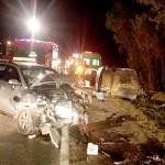 Colisão frontal entre dois veículos na BR-277 deixa cinco feridos_foto rede social WhatsApp 2