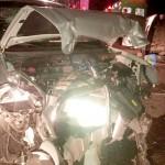Colisão frontal entre dois veículos na BR-277 deixa cinco feridos_foto rede social WhatsApp 4
