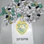 Droga apreendida pela PM em Palmeira- 2 - foto PM
