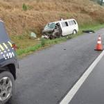 Acidente na BR-277 entre caminhão, Kia Besta e Fiat Uno deixa dois motoristas feridos_foto PRF (2)