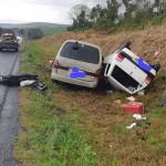 Acidente na BR-277 entre caminhão, Kia Besta e Fiat Uno deixa dois motoristas feridos_foto PRF (5)