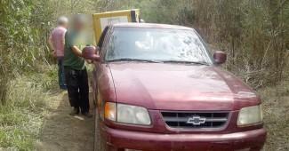 Camionete utilizada em furto de gerador de energia em Porto Amazonas (1)