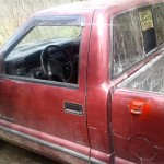 Camionete utilizada em furto de gerador de energia em Porto Amazonas (2)